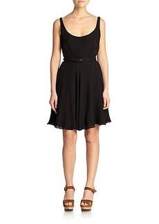 Polo Ralph Lauren Silk Flared Dress