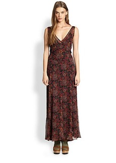 Polo Ralph Lauren Silk Floral-Print Dress