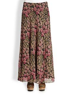 Polo Ralph Lauren Silk Floral Skirt