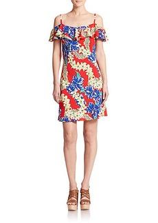 Polo Ralph Lauren Silk Hawaiian Ruffled Dress