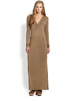 Polo Ralph Lauren Silk Maxi Shirtdress