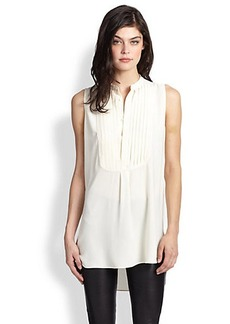 Polo Ralph Lauren Silk Pleated Tunic