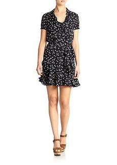 Polo Ralph Lauren Silk Ruffled Dress