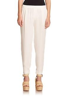 Polo Ralph Lauren Silk Tapered Pants