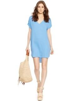 Polo Ralph Lauren Silk V-Neck Dress