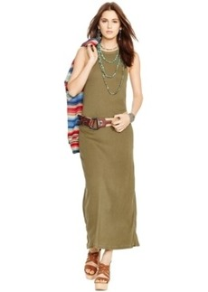 Polo Ralph Lauren Sleeveless Ribbed Maxi Dress