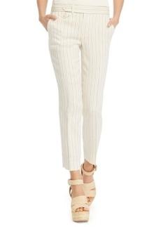 Polo Ralph Lauren Striped Linen Straight-Leg Pants