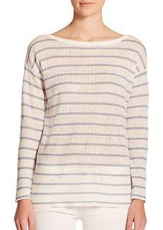 Polo Ralph Lauren Striped Pointelle-Linen Sweater