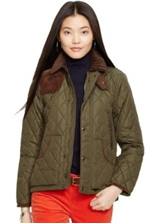 Polo Ralph Lauren Suede-Trim Quilted Jacket