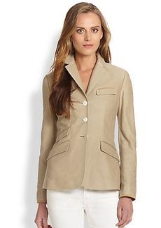 Polo Ralph Lauren Suede-Trimmed Cotton Twill Jacket