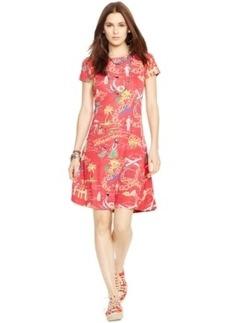 Polo Ralph Lauren Tropical-Print Short-Sleeve Dress