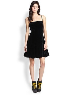 Polo Ralph Lauren Velvet Flared Dress