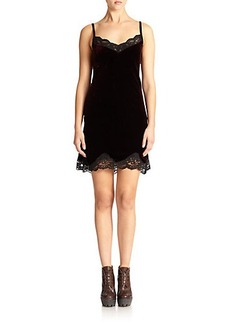 Polo Ralph Lauren Velvet Lace-Trim Dress