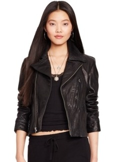 Polo Ralph Lauren Washed Leather Jacket