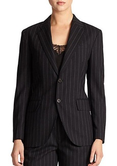 Polo Ralph Lauren Wool Pinstriped Jacket