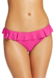 Polo Ralph Lauren Ruffled Hipster Bikini Bottom Women's Swimsuit