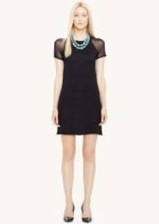 Raglan-Sleeved Silk Dress