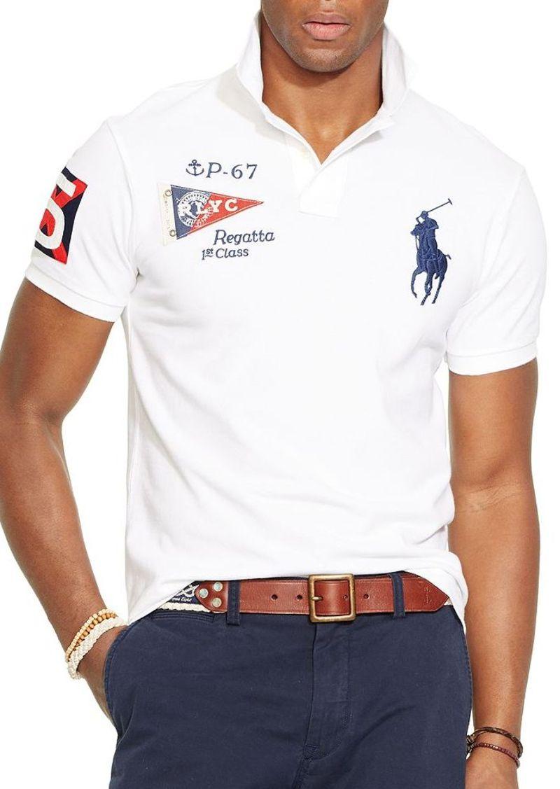 Ralph lauren ralph lauren custom fit yacht club mesh polo for Ralph lauren polo club shirts