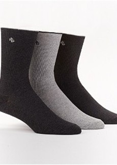 Ralph Lauren Ribbed Crew Socks 3-Pack
