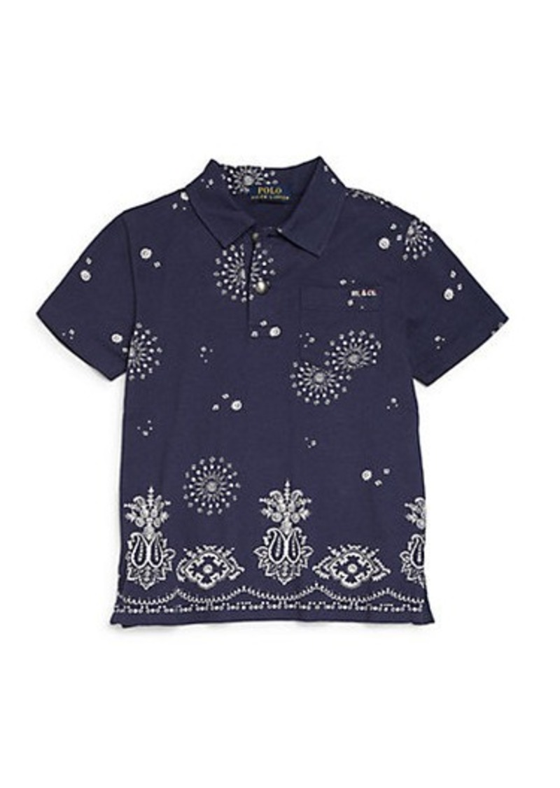 Ralph lauren ralph lauren toddler boy 39 s bandana print polo for Toddler boys polo shirts