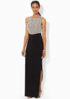 Sequined Sleeveless Gown