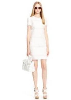 Sheer-Striped Onella Dress