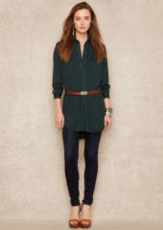 Silk-Blend-Jersey Tunic