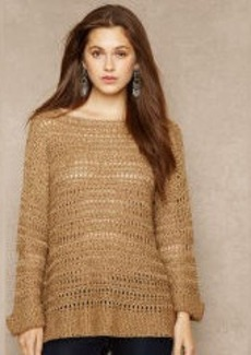 Silk-Blend Open-Knit Sweater