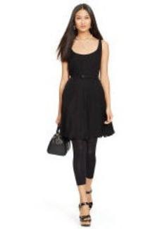 Silk Georgette Belted Dress