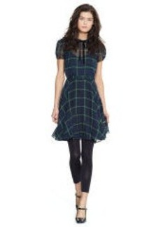 Silk Georgette Tartan Dress