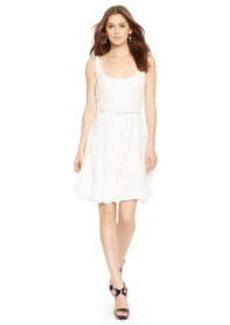 Silk Scoopneck Dress