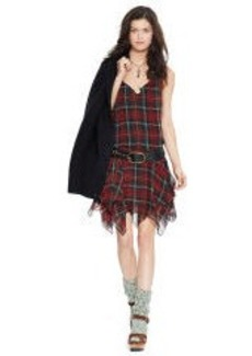 Silk Tartan Sleeveless Dress