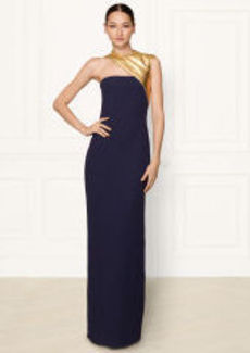 Silk Theresa One-Shoulder Gown