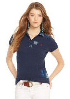 Skinny-Fit Repaired Polo Shirt