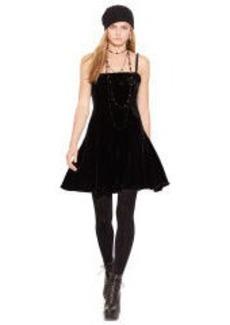 Sleeveless Velvet Dress