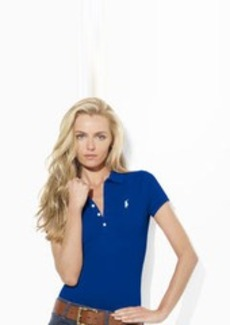 Slim-Fit Mercerized Mesh Polo