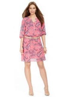 Smocked Henley Dress