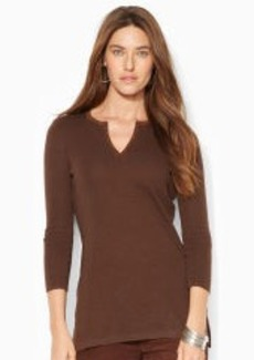 Split-Neck Cotton-Blend Tunic