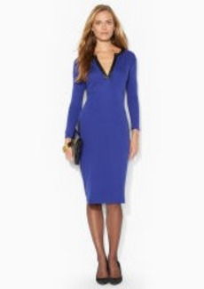 Split-Placket Stretch Dress