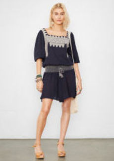 Square-Neck Peasant Dress