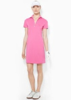 Stretch-Cotton Polo Dress