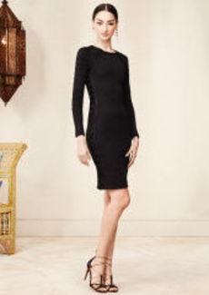 Stretch-Silk Lace-Up Dress