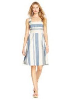 Striped Cotton-Linen Dress