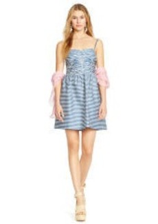 Striped Cotton Twill Dress