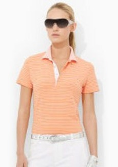 Striped Stretch Polo Shirt