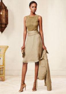 Suede-Silk Estella Dress