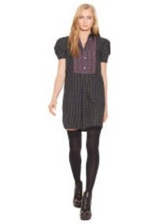 Tartan Short-Sleeved Dress