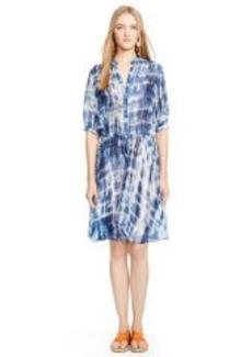 Tie-Dyed Silk Darielle Dress