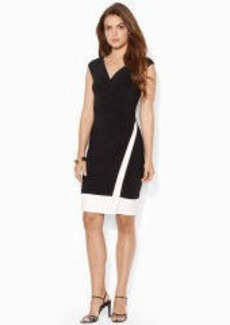 Two-Toned Surplice Dress