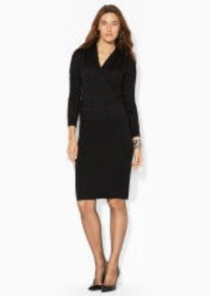 Wool Shawl-Collar Dress